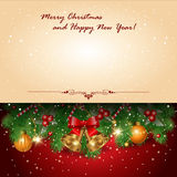 Red greetings background Stock Images