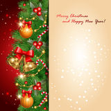 Red greetings card Royalty Free Stock Photos