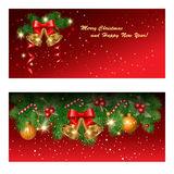 Red greetings cards Royalty Free Stock Photo