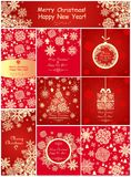 Red greetings for winter holiday Royalty Free Stock Photo