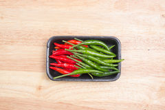 Red and Grenn Hot Chili Peppers Royalty Free Stock Photo