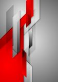 Red grey abstract hi-tech motion background Stock Photos