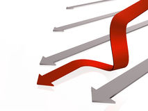 Red and grey arrow Royalty Free Stock Photography