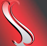 Red-grey-black background. Royalty Free Stock Images