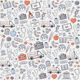 Red,grey,blue Medical pattern. Stock Photo