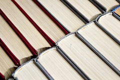 Red and grey book shelf Stock Image