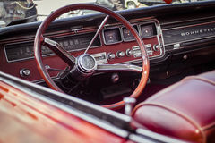 Red and Grey Car Steering Wheel Royalty Free Stock Images