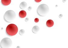 Red and grey circle balls abstract vector Stock Photos