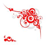 Red and grey circles Royalty Free Stock Photo