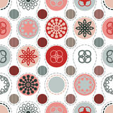 Red grey circles background Royalty Free Stock Image