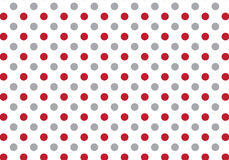 Red and grey dot pattern on white background. Vector pattern Stock Image
