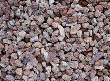Red-grey gravel background Royalty Free Stock Photos