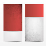 Red and grey grunge card template Stock Images