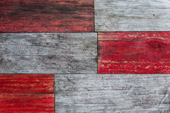 Red and grey grungy wood planks Stock Photo