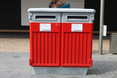 New Zealand mail postbox, Christchurch Stock Image