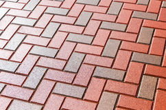 Red and grey paving stones as background Royalty Free Stock Photo