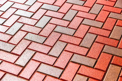 Red and grey paving stones as background Royalty Free Stock Photos