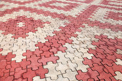 Red and grey paving tiles Royalty Free Stock Photo