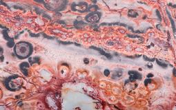 Red and grey rhyolite structure Royalty Free Stock Photo