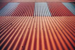 Red Grey Shingles Royalty Free Stock Photography
