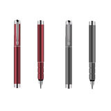 Red and grey silver pens Stock Image