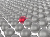Red and grey spheres Stock Images