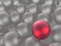 Red and grey spheres. As abstract background, 3D illustration royalty free illustration