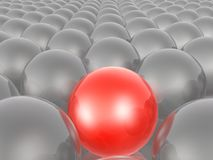 Red and grey spheres. As abstract background, 3D illustration stock illustration