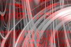 Red and grey swirls background Royalty Free Stock Image