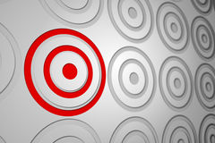 Red and grey target pattern Stock Image
