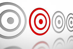 Red and grey target pattern Royalty Free Stock Photography