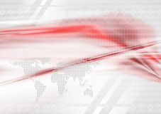 Red and grey technology background Stock Photo