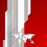 Red and grey technology background with world map Royalty Free Stock Image