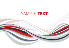 Red and grey wave Royalty Free Stock Photos