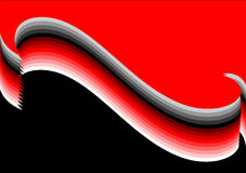 Red-grey wave. Background. Stock Photos