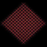 Red grid on black background. Raster Royalty Free Stock Photography