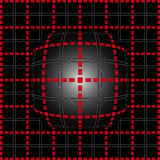 Red grid lighting convex background Stock Photos
