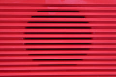 Red grid radio Stock Images