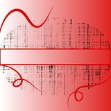 Red grids copyspace background Stock Image