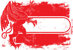 Red Griffin Tag Royalty Free Stock Photo