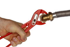 Red gripper Royalty Free Stock Image