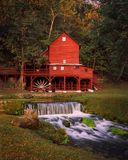 Red Grist Mill in the Summer. Royalty Free Stock Photography