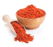 Red ground paprika isolated on white Royalty Free Stock Image