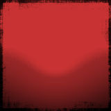 Red Grunge. Mix of red gradient background with a rough grunge black border and good copyspace Royalty Free Stock Images