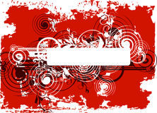 Red Grunge abstract background. Vector illustration Royalty Free Stock Image
