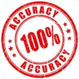 Grunge accuracy stamp. Red grunge accuracy stamp on white background stock illustration