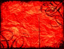 Red grunge background. Crumpled paper Royalty Free Stock Photo