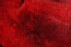 Red grunge background, canvas texture Stock Photos