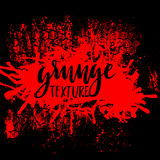 Red grunge background with splats and drops. Vector illustration. Red grunge background with splats and drops. Vector illustration Stock Images