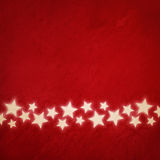 Red grunge background with stars Royalty Free Stock Photography